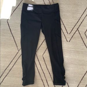 Black lululemon workout 7/8 leggings